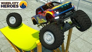 Repair Monster Truck Tires, Ambulance Helping Cars | Wheel City Heroes (WCH) New 3D Cartoon for Kids