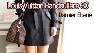 Louis Vuitton Speedy Bandouliere 30 Damier Ebene Review,Modelling shopts
