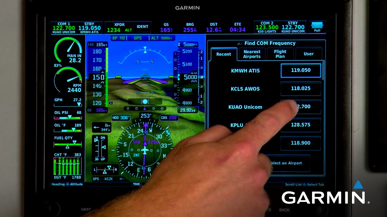 Garmin G3X Touch: Controlling Your COM and Transponder