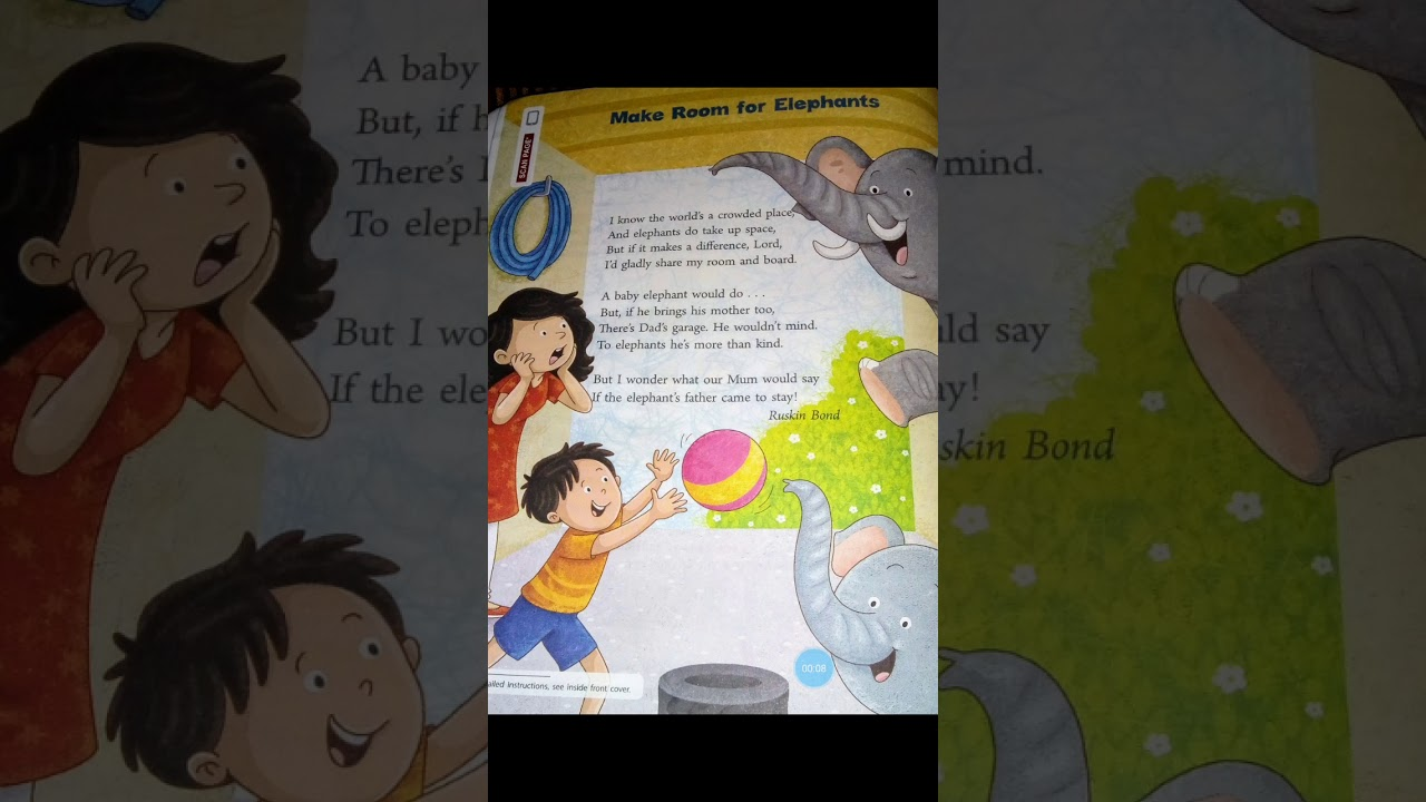 Poem Make Room For Elephants By Ruskin Bond Of Class 4 With Full Explanation.Communicate In English. - YouTube
