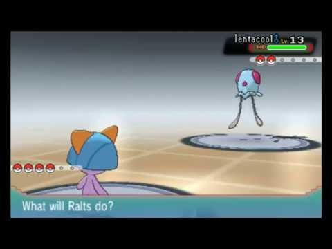 Shiny Ralts Battle + Evolves To Shiny Kirlia - Pokemon ORAS Omega Ruby Alpha Sapphire