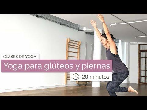 Ejercicios de yoga para glúteos y piernas (20 min)