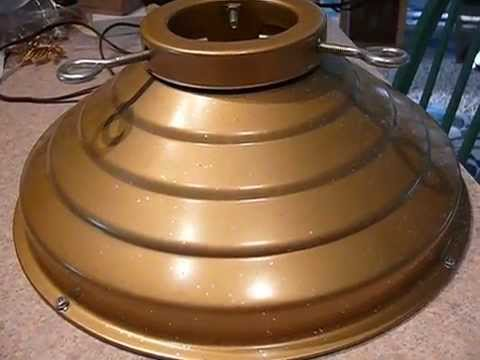 Vintage Star Bell Revolving Musical Christmas Tree Stand