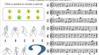 Online Multiple Choice Melody Quiz/Test - Sight Reading Lesson/Training