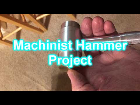 Making a Machinist Hammer full build with directions on Mini Lathe