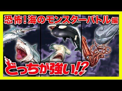 【漫画】海のモンスター、恐怖の海の殺し屋が登場!海中で激しいバトル!