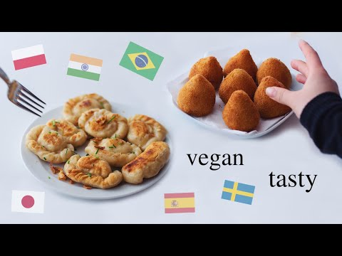 Testing Meals from different Countries! (vegan, so yummy)