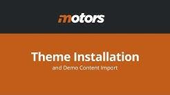 Motors - Car Dealership Business WordPress Theme Installation - StylemixThemes