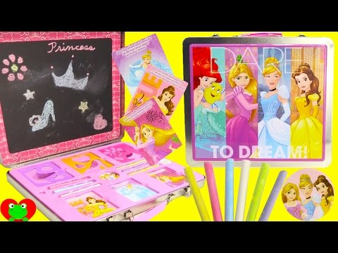 Disney Princess Chalk Board Activity Set with Surprises