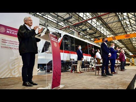 Inauguración de la Línea 3 del Tren Ligero de Guadalajara, desde Tonalá, Jalisco