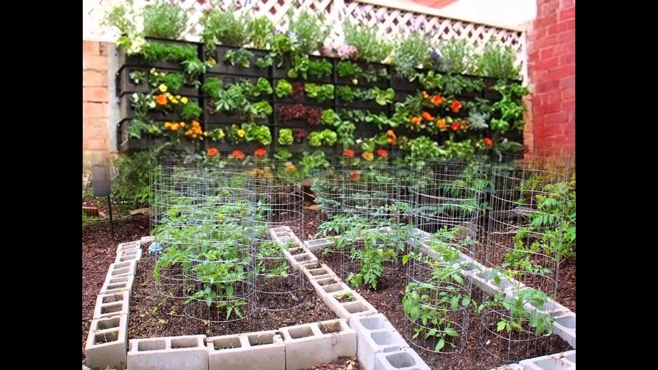 Stunning Small backyard vegetable garden - YouTube on Vegetable Garden Ideas For Backyard id=64883