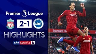 Liverpool seal nervy win after Alissonred card | Liverpool 2-1 Brighton | Premier League Highlights