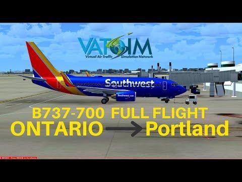 [FSX] Southwest 4518 | Ontario - Portland | B737-700 | Full Flight | VATSIM