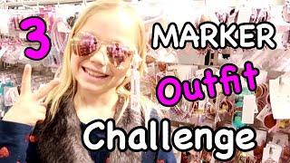 3 MARKER OUTFIT Shopping Challenge ✏️✏️✏️ DAS passt doch nicht zusammen, oder? 😲Kleine Familienwelt