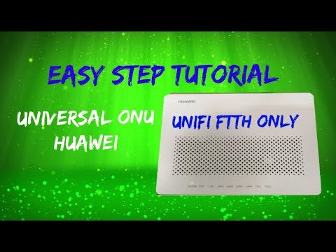 how to configure universal onu huawei