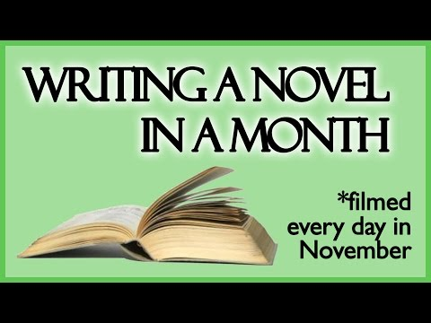 Writing a Novel in 30 Days (Filmed Every Day in Nov 2014)