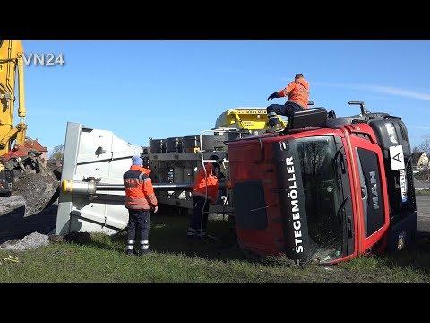 12.03.2020 - VN24 - Umgestürzter Muldenkipper Wird Geborgen