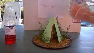 Modèle de volcan effusif et explosif