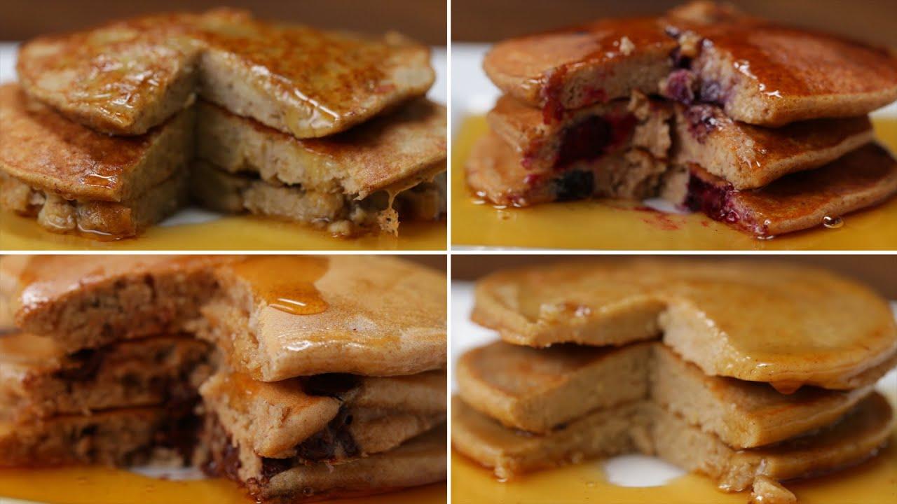 Nutritious pancakes 4 ways youtube nutritious pancakes 4 ways tasty ccuart Gallery