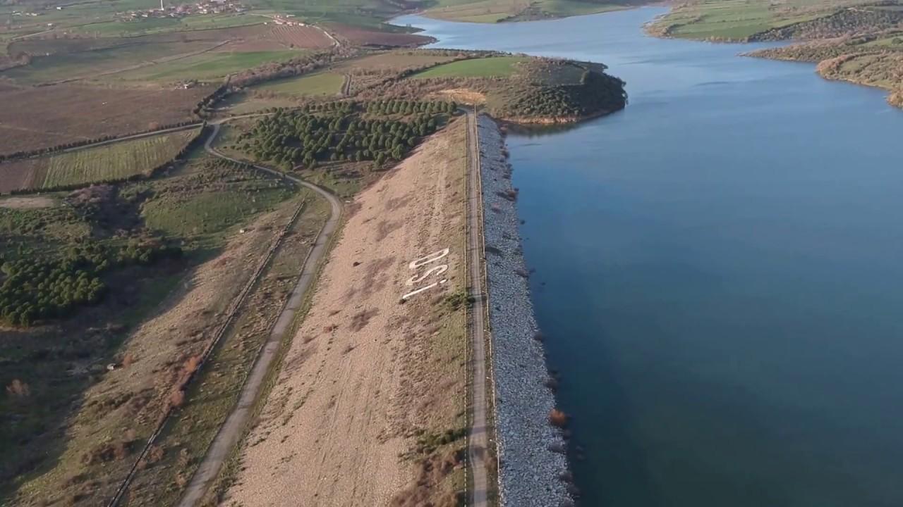 Çanakkale Bayramiç Barajı Baraj Göleti ve Kaz Dağı Manzarası - YouTube