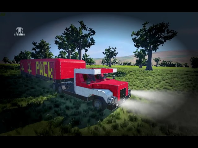 Space Engineers | Workshop | Truck US 200 + Pack trailer