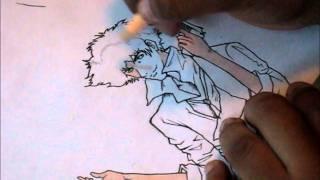 Speed Drawing Spike Spiegel from Cowboy Bebop