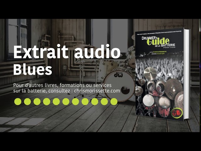 Extrait audio Blues - Drummer's Guide de la batterie