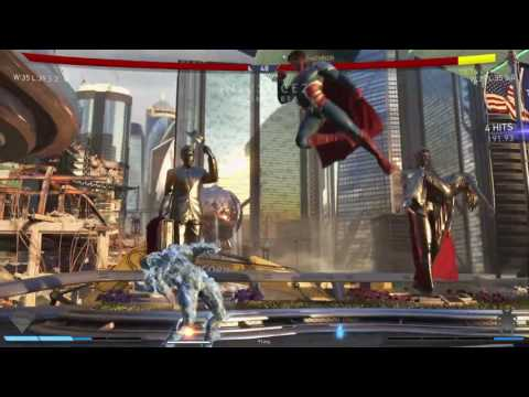 Injustice 2 Online Beta: Magician (Superman) vs HoneyBee (Blue Beetle) with commentary