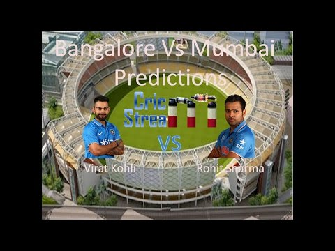 Live: Bangalore vs Mumbai Cricket Match no. 12 Predictions