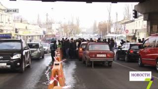 Перекрытие Пересыпского моста в Одессе