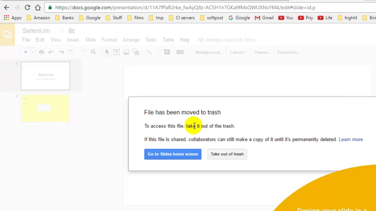 Gmail theme delete - How To Delete A File In Google Slides
