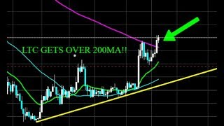 LITECOIN IS OVER 200MA ON THE 1 DAY!! CAN IT HOLD?! THIS IS A BIG DEAL!