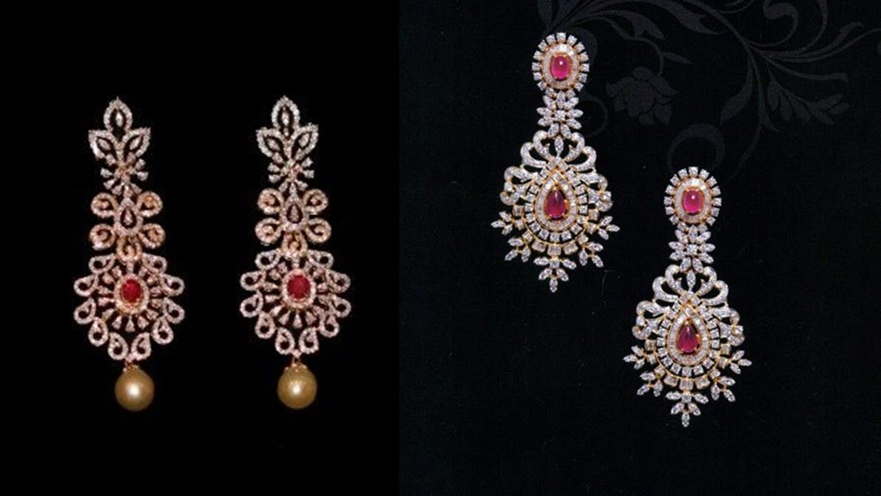 Gorgeous Indian Diamond Earrings Designs 2019 Jewellery Design