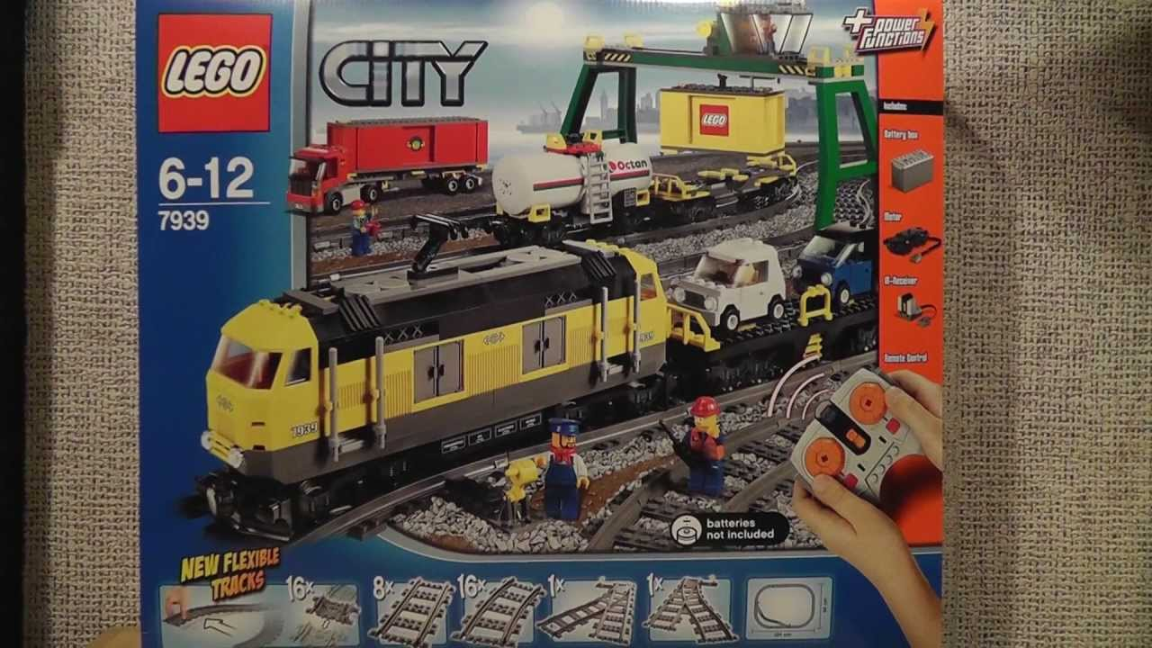 Lego City 7939 Pociąg Towarowy Youtube