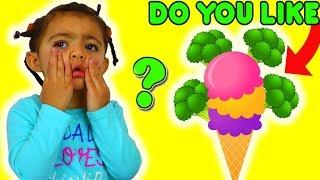 Do You Like Broccoli Ice Cream Song   Leah Play's Time Nursery Rhymes & Kids Songs