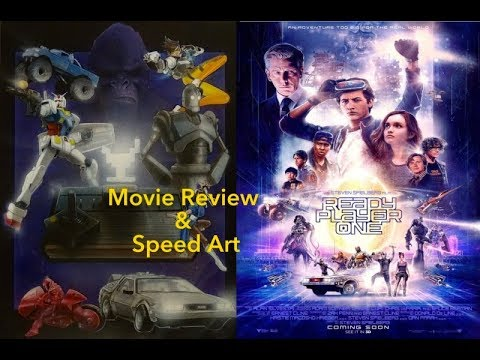 Ready Player One Movie Review & Speed Art
