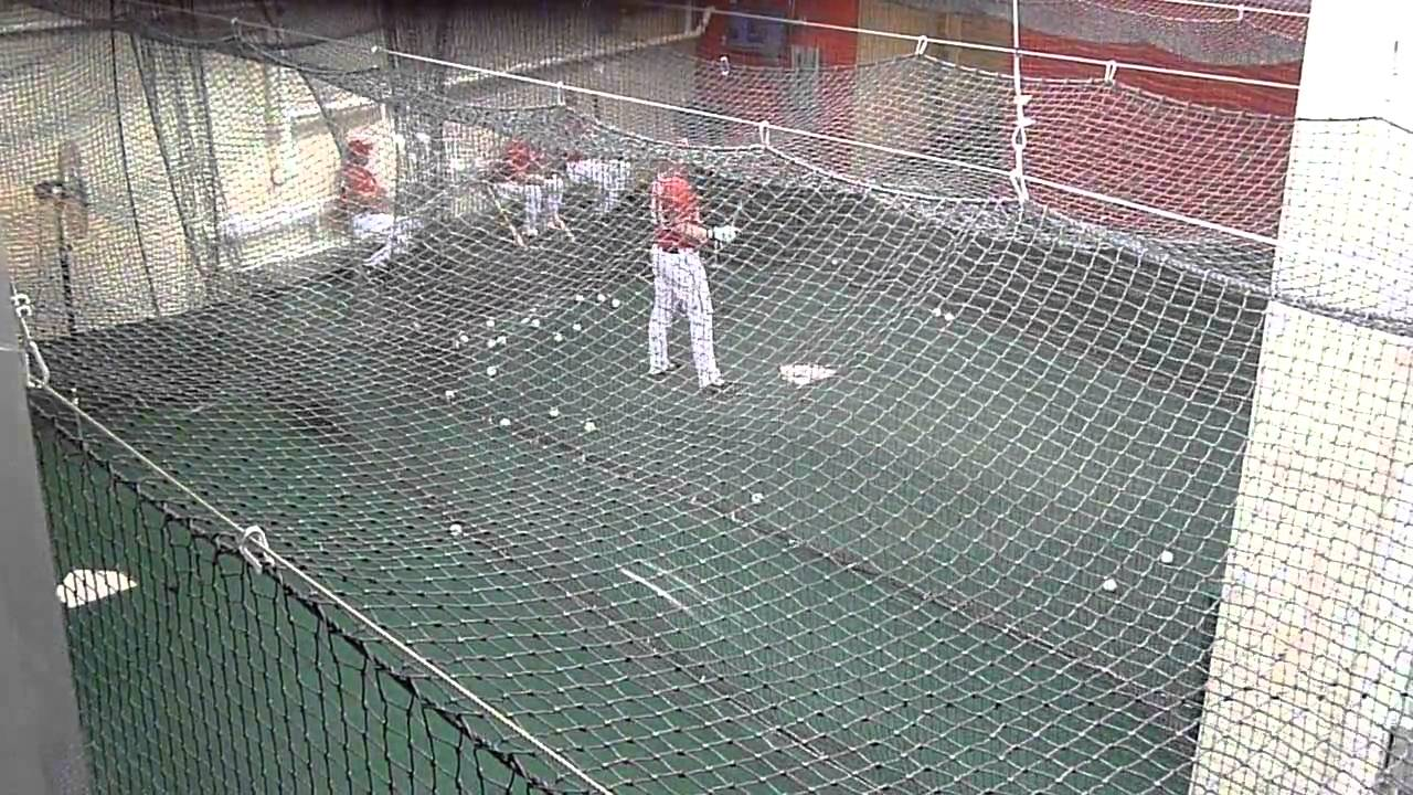 Indoor Batting Cage Nationals Park 081410 - YouTube