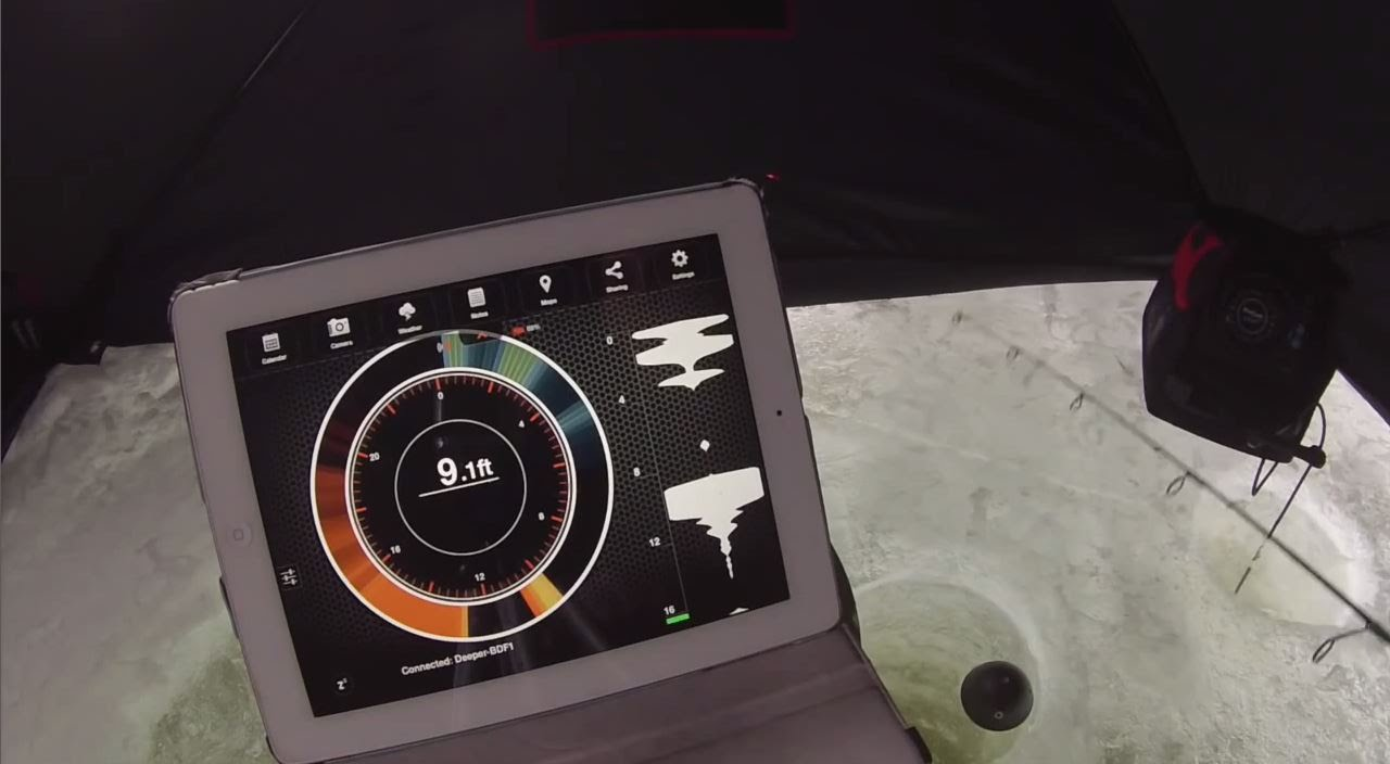 deeper: smart fish finder - ice fishing review - youtube, Fish Finder