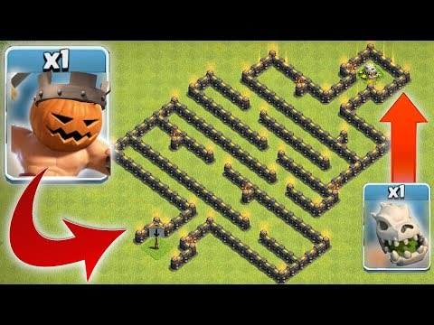 PUMPKIN KING DEATH MAZE!! | Clash of clans | HALLOWEEN TROLL!!