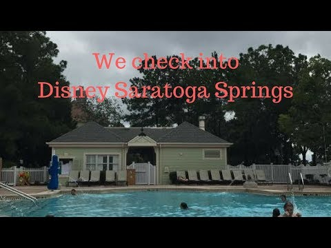 Disney's Saratoga springs check in and resort tour