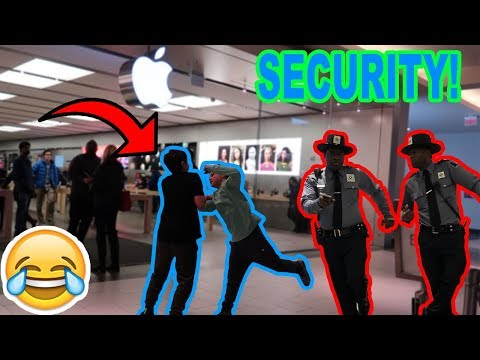 FAKE FIGHTING IN PUBLIC!