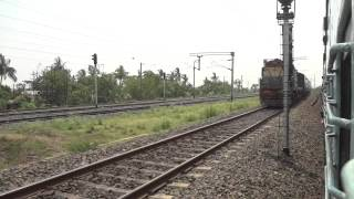 OVERTAKING HOWRAH SIURI EXPRESS & SKIPPING SHAKTIGARH AT FULL SPEED