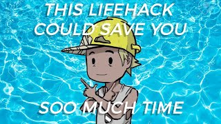 This Lifehack For The Pool Could Save You Soo Much Time