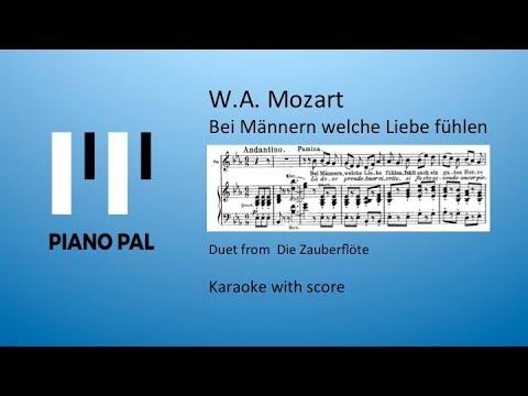 Bei Mannern welche Liebe fühlen Mozart Zauberflöte Karaoke Pianopal