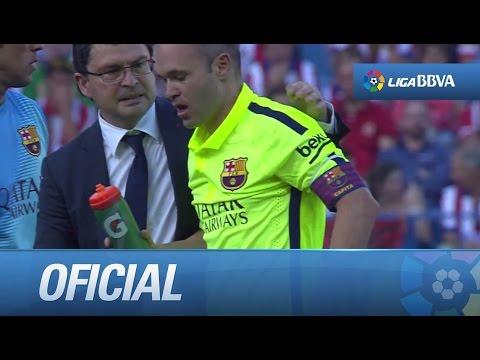 Pelotazo de Griezmann a Iniesta en la cara