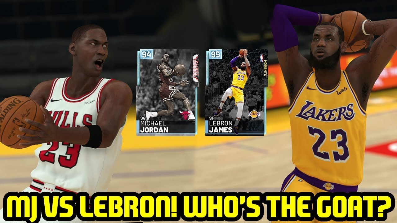 0929217473a DIAMOND MICHAEL JORDAN VS DIAMOND LEBRON! WHO'S THE GOAT? NBA 2K19 MYTEAM  UNLIMITED GAMEPLAY