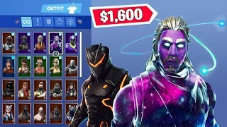 My $1,600 Fortnite Locker! (*RARE SKINS*)