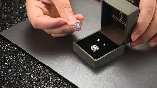 Cat Eye Stone Diamond Earrings