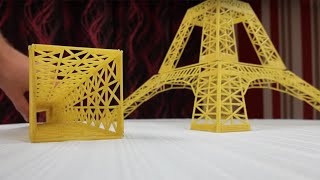 Collapse of Spaghetti Eiffel Tower in Boiled Water