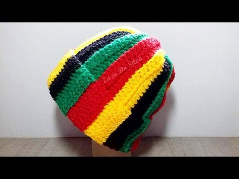 Gorro Jamaica em Crochê(Vertical)